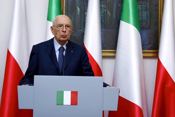 Prezydent Włoch Giorgio Napolitano