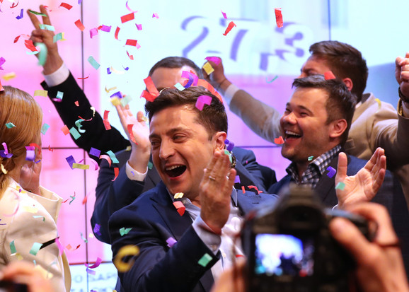 Volodomir Zelenski nakon pobede na izborima