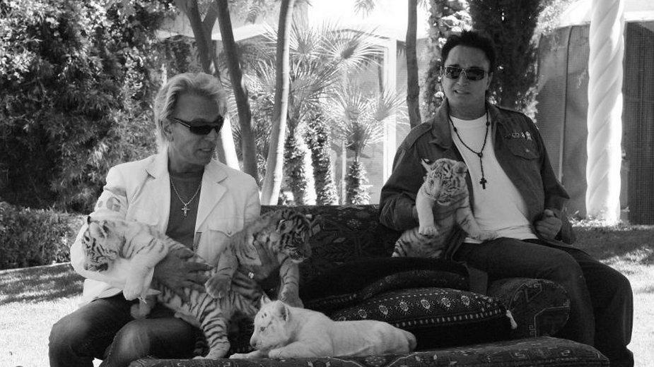 Siegfried Fischbacher (po lewej) i Roy Horn w Las Vegas (2008)