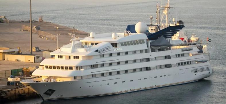 Sheikh Mohammed bin Rashid Al Maktoum yatch which is the third largest yacht in the world. (SuperYacht)