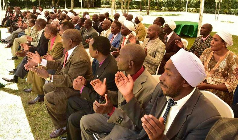 Religious leaders from various denominations gathered at DP William Ruto's Sugoi Home (Twitter)