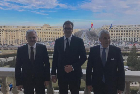 Vučić sa Dragnom u obilasku Parlamenta