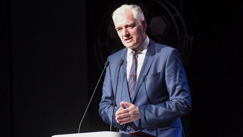 Wicepremier, minister nauki i szkolnictwa wyższego Jarosław Gowin podczas uroczystego spotkania rektorów szkół polskich oraz środowiska akademickiego.