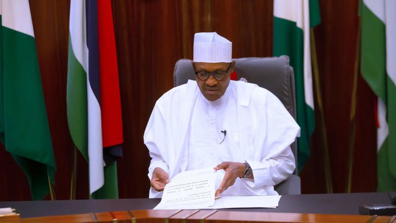 President Muhammadu Buhari. [Twitter@BashirAhmaad]