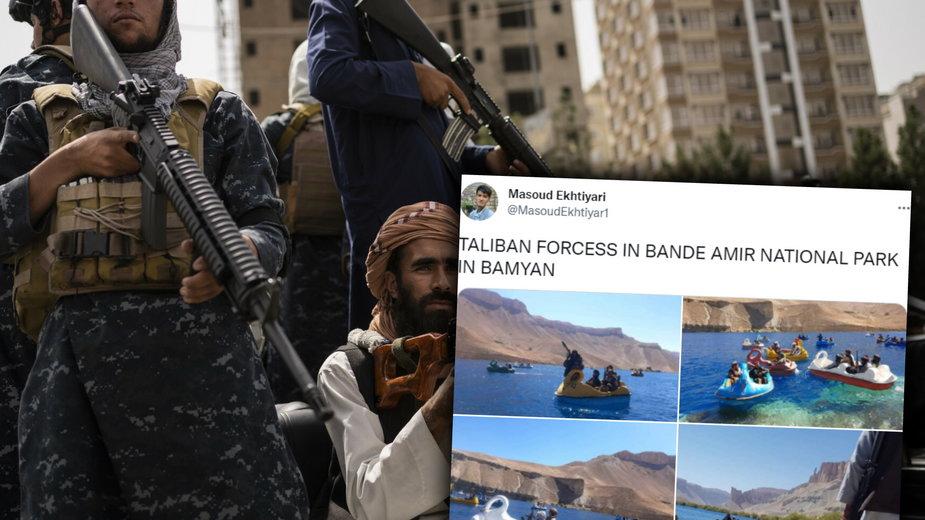 Uzbrojeni talibowie pływają na.... rowerkach wodnych