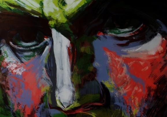 Betovenov ludi pogled, 2016, algrafija