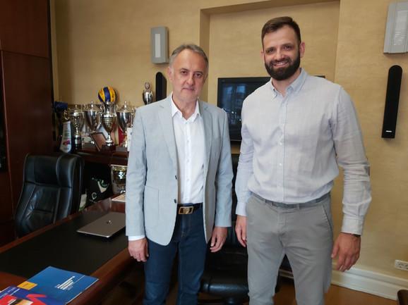 Predsednik Odbojkaškog saveza Srbije Zoran Gajić i Dejan Bojović