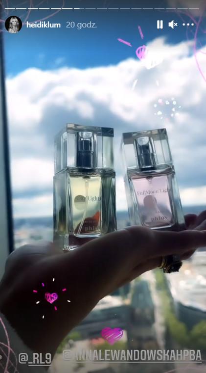 Heidi Klum shows perfumes from Anna Lewandowska
