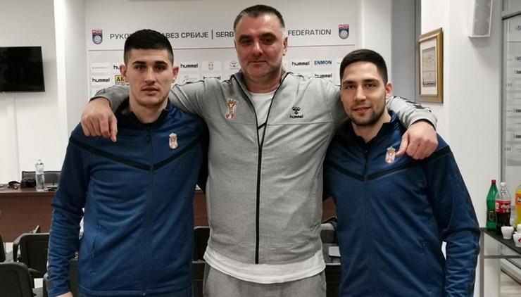 Selektor Nenad Peruničić i reprezentativci Lazar Kukić i Nikola Crnoglavac
