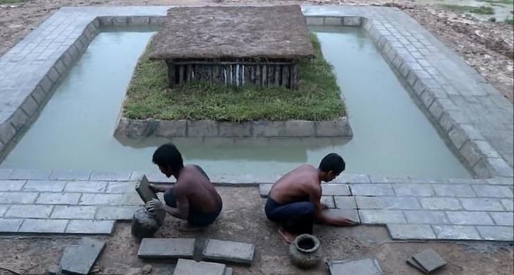 Kambodža jutjub gradnja primitivnim oruđem1