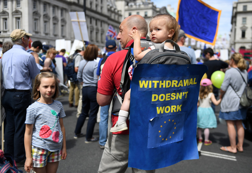 epa06833961 - BRITAIN BREXIT PEOPLES MARCH (People's March Against Brexit in London)