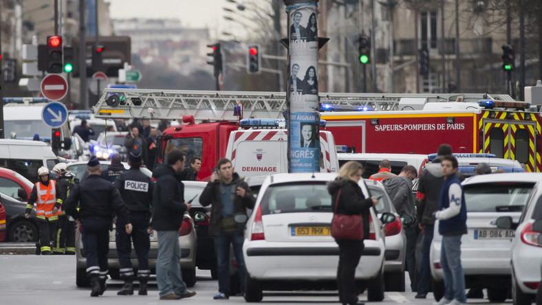 Policja w Porte de Vincennes, Francja