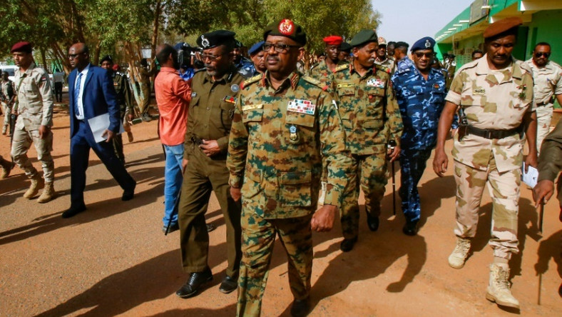 General Jamal Omar (C) of Sudan's ruling military council can be seen July 4, 2019