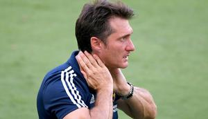 Guillermo Barros Schelotto, pictured in August 2020 when Los Angeles Galaxy coach, has been hired by the Paraguay national team alongside his twin brother Gustavo Creator: Harry How