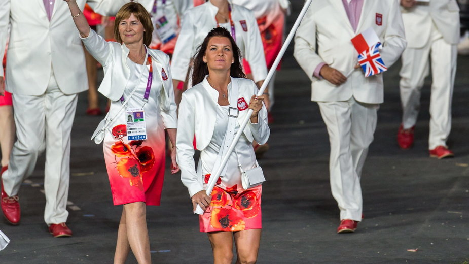 Agnieszka Radwańska w trakcie ceremonii otwarcia IO w Londynie