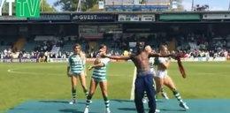 Piłkarz zatańczył z cheerleaderkami (FILM)