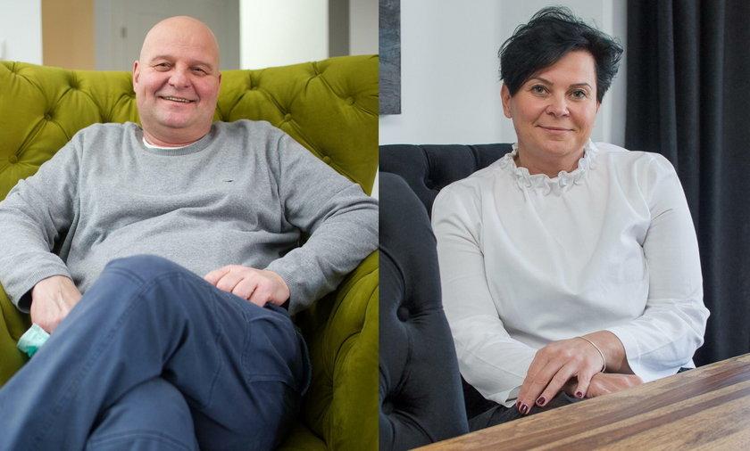 Iwona Rozewska (47 l.) i jej brat Paweł (53 l.)