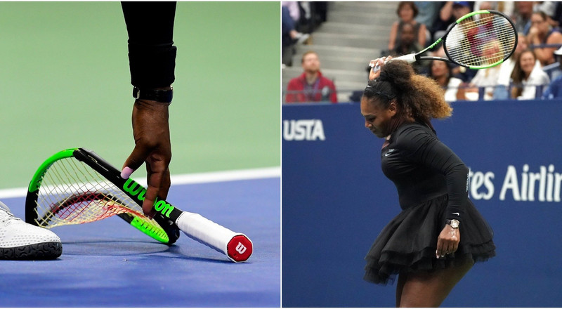 The racket which Serena Williams smashed during her 2018 US Open final defeat to Naomi Osaka just sold at auction for $20,910