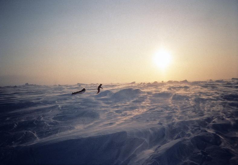 """Erling Kagge, autor """"Ciszy"""" podczas jednej ze swoich podróży"""