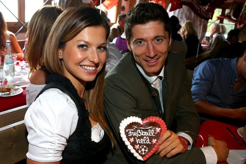 Robert Lewandowski z żoną