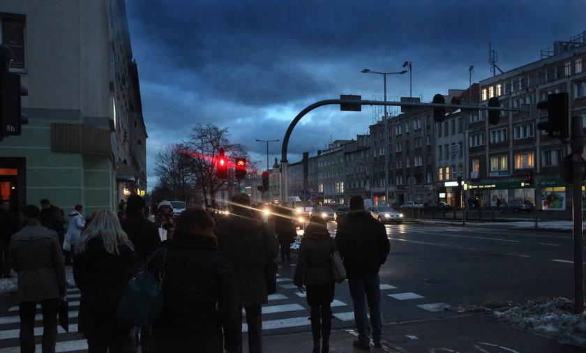 gdańsk lampy ciemno