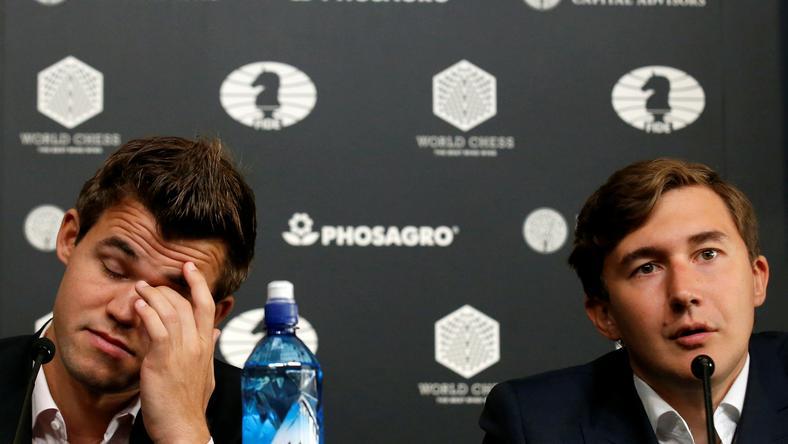 Magnus Carlsen i Sergiej Karjakin