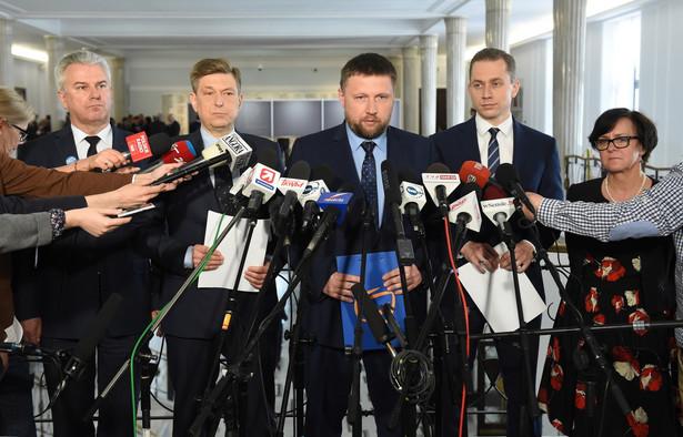 Politycy PO: Cezary Grabarczyk, Mariusz Witczak, Marcin Kierwiński, Cezary Tomczyk i Joanna Kluzik-Rostkowska
