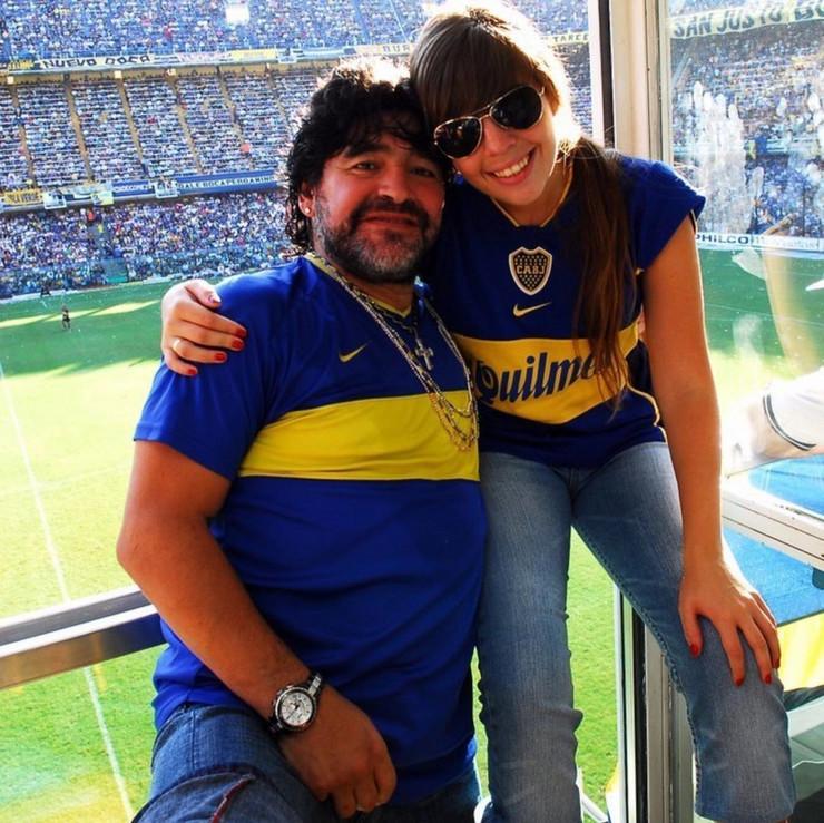 Maradona sa ćerkom