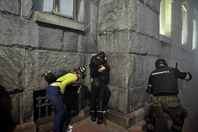Par sa protesta, Foto: ANDREJ ISAKOVIĆ/AFP