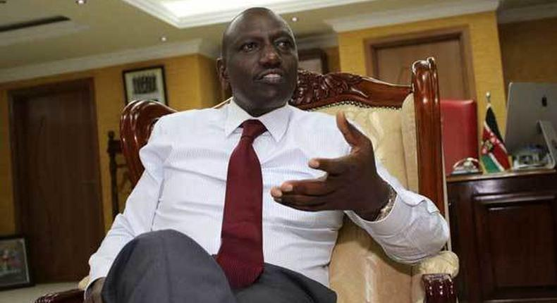 File image of DP Ruto at his office. Maajabu - DP Ruto reacts to reports that Tuju is Raila's inside man