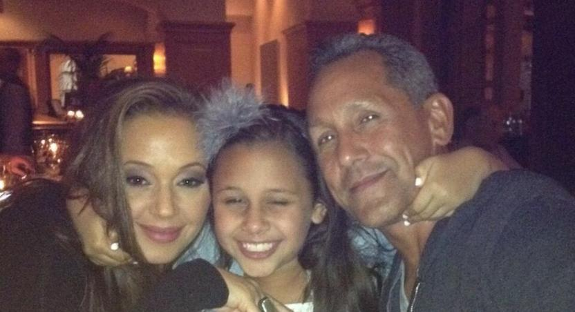 Remini with daughter Sofia and husband Angelo Pagan in July 2013.
