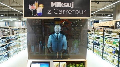 Elektroniczny barman to jedna z nowinek zastosowana w sklepie Carrefour