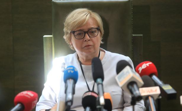 """Dodała, że podniosła również, iż """"należy przywrócić konstytucyjny charakter KRS i procedowania w KRS""""."""