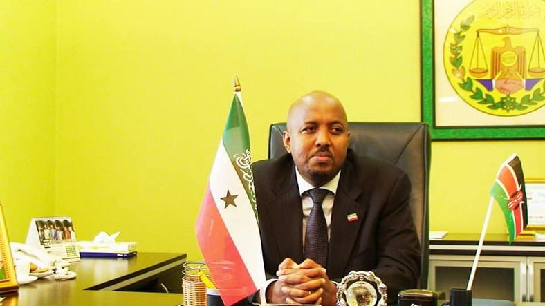 Bashe Omar, the Somaliland envoy to Kenya