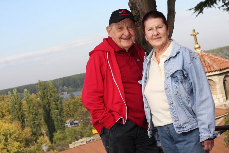 Vlasta Velisavljević i žena Nada