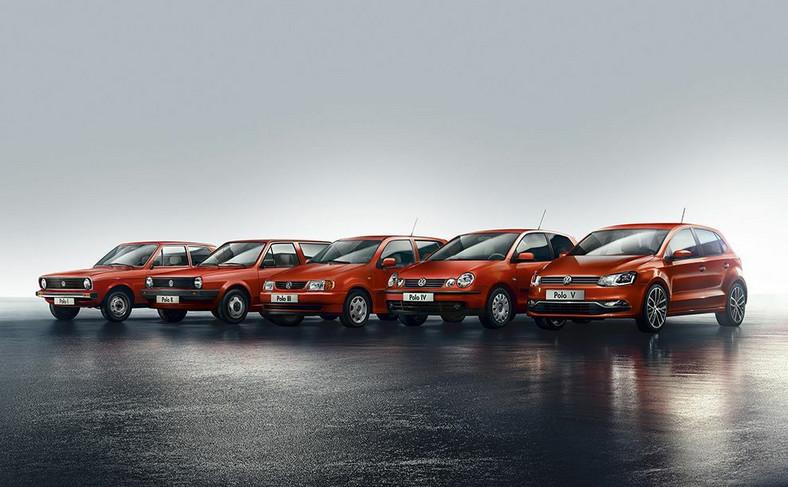 Volkswagen polo w pięciu pokoleniach