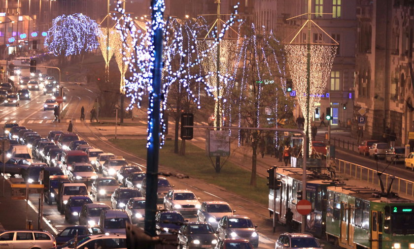świąteczne iluminacje w Poznaniu