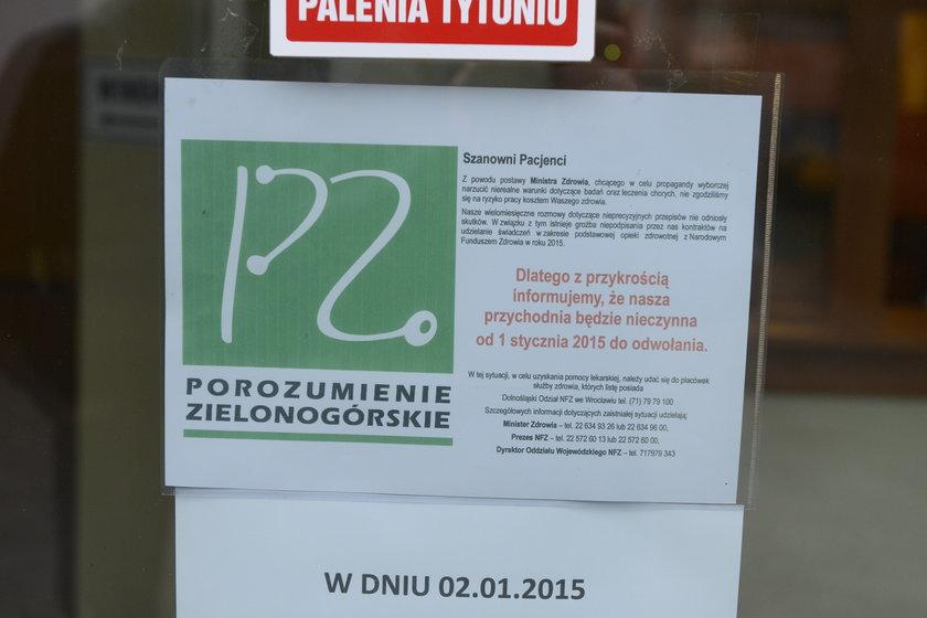 Zamknięte przychodnie we Wrocławiu