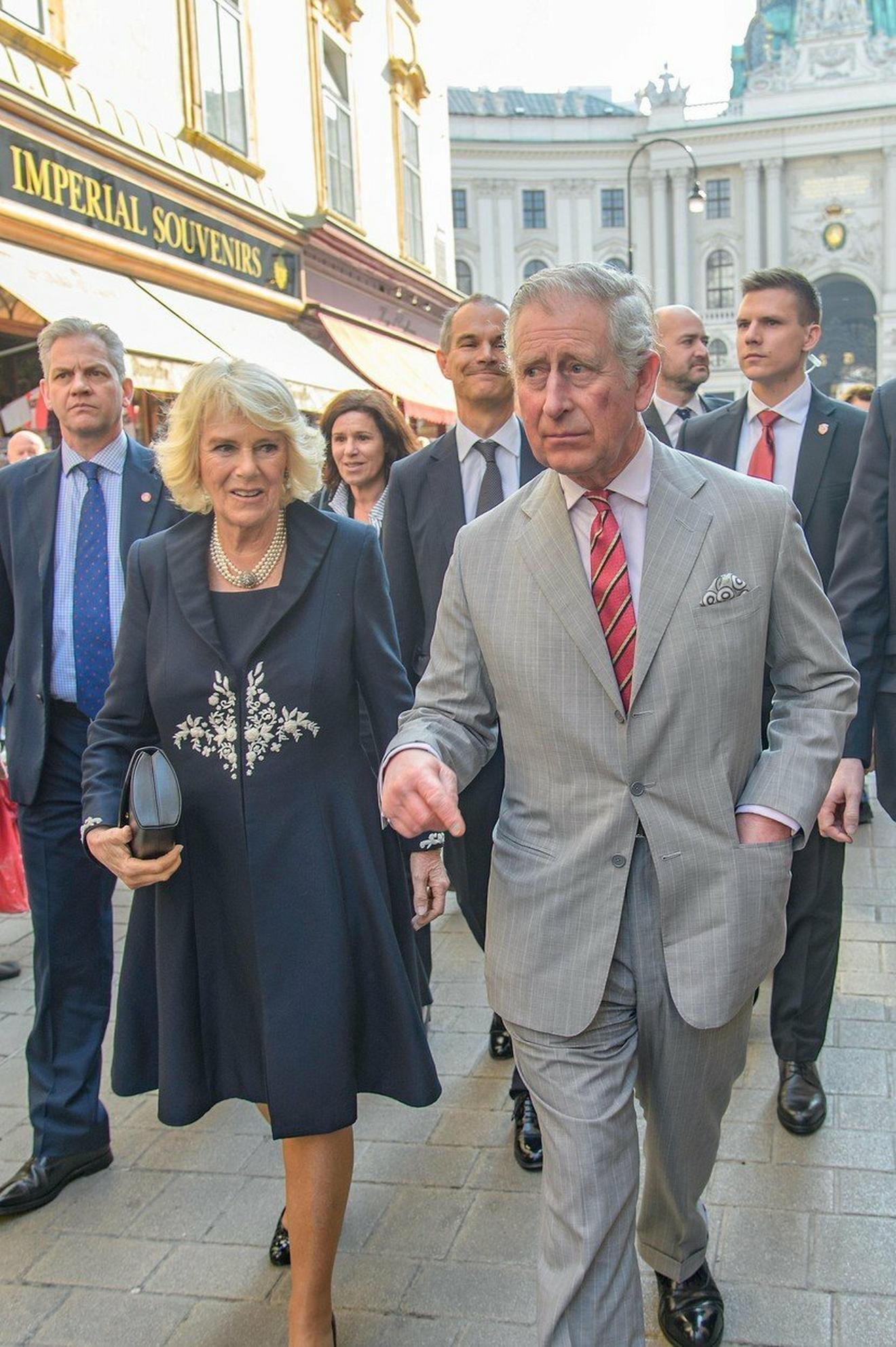 Kamila, vojvotkinja od Kornvola, i Čarls, princ od Velsa u poseti Beču u aprilu ove godine