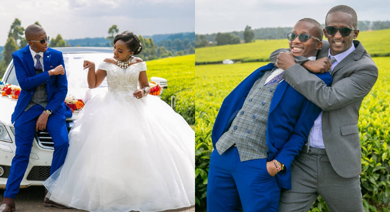 Comedian Njugush's younger Brother weds longtime girlfriend in an exquisite affair (Photos)