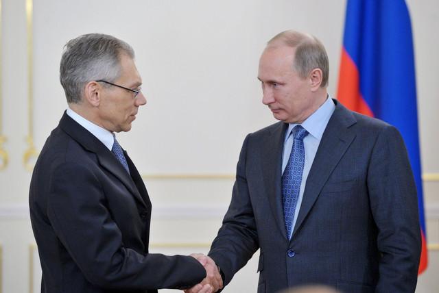 Aleksandar Bocan Harčenko sa Putinom