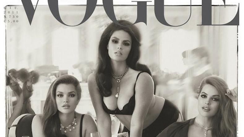 "na okładce ""Vogue Italia"""