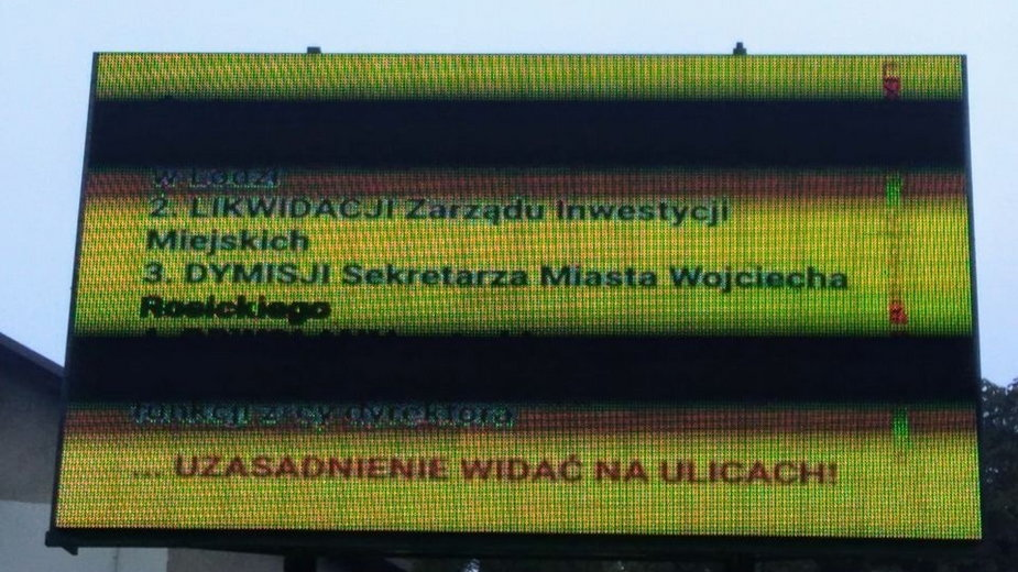 ŁDZ Zmotoryzowani łodzianie - protest