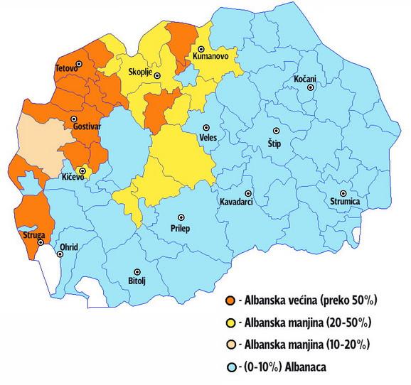 Etnička mapa Makedonije