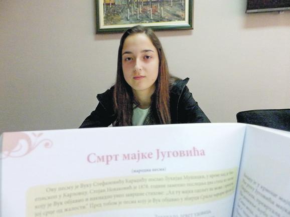Sara Velimirović napisala je odgovor kakav je i u knjizi iz koje uči