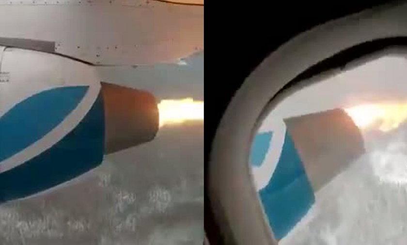 Pasażerowie przerażeni. Silnik samolotu zaczął płonąć