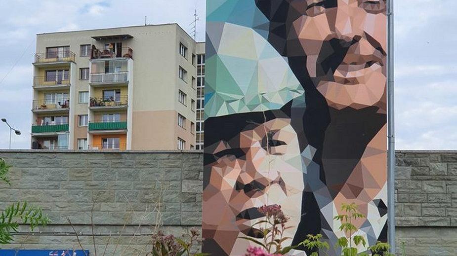 Mural przy stacji metro Ursynów