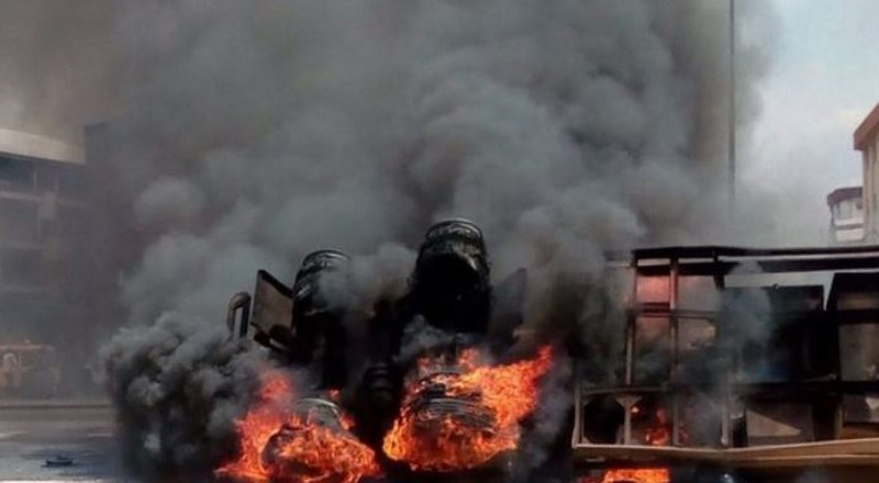Another Lagos market is on fire