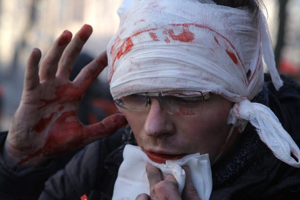 Protesty na Ukrainie. Fot. EPA/OLEG PETRASYUK/PAP/EPA