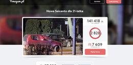 Zebrali ponad 100 tys. dla kierowcy Seicento. Co się stanie z pieniędzmi?